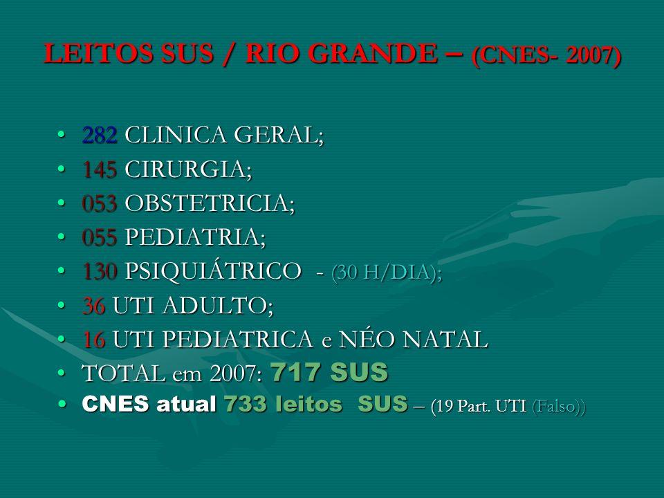 LEITOS SUS / RIO GRANDE – (CNES- 2007)