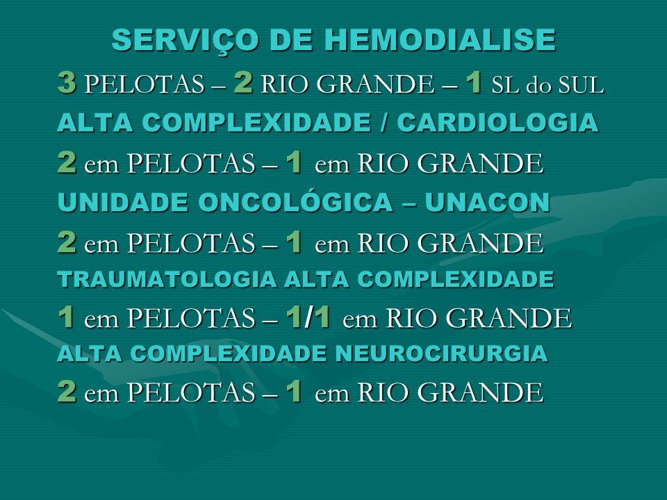 SERVIÇO DE HEMODIALISE