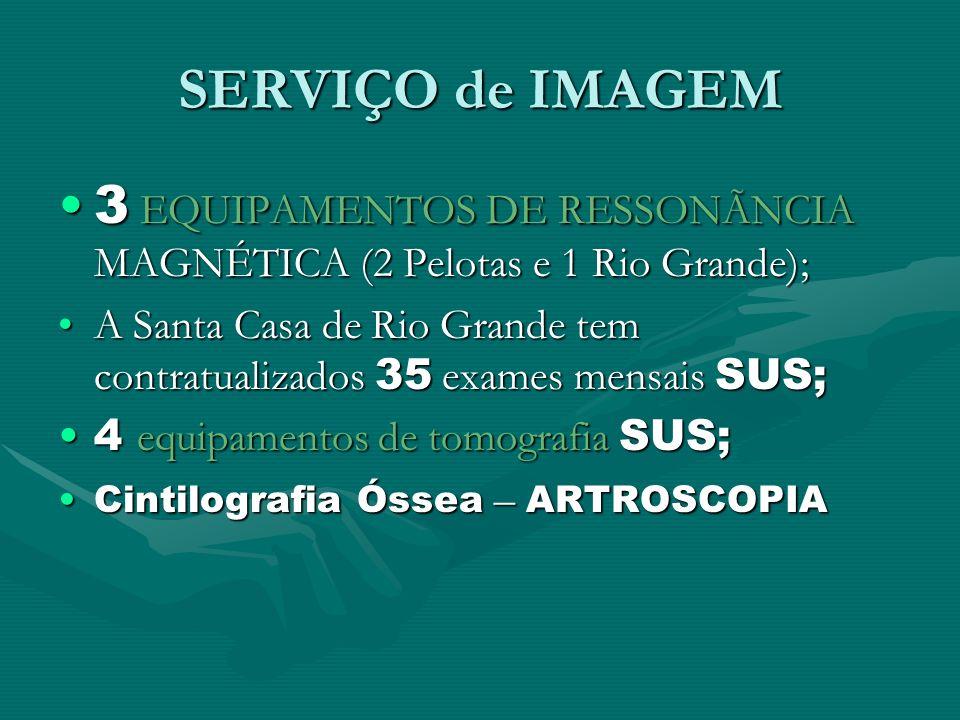 SERVIÇO de IMAGEM 3 EQUIPAMENTOS DE RESSONÃNCIA MAGNÉTICA (2 Pelotas e 1 Rio Grande);