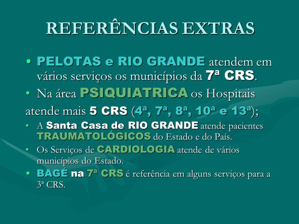 REFERÊNCIAS EXTRAS Na área PSIQUIATRICA os Hospitais