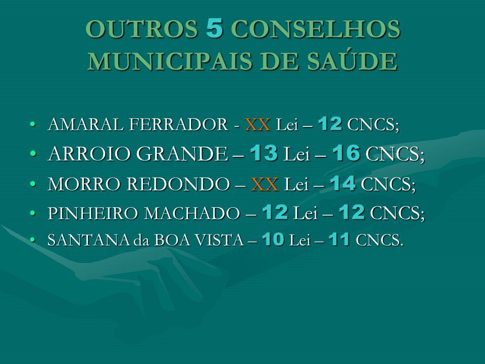 OUTROS 5 CONSELHOS MUNICIPAIS DE SAÚDE