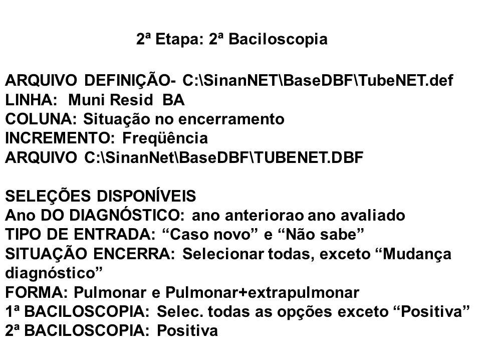 2ª Etapa: 2ª Baciloscopia