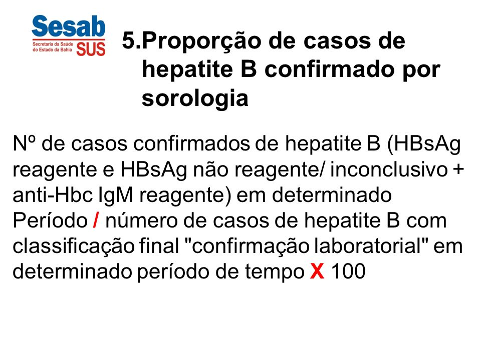 hepatite B confirmado por sorologia