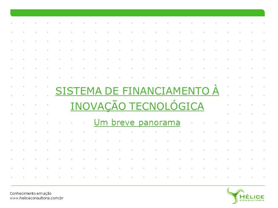 SISTEMA DE FINANCIAMENTO À INOVAÇÃO TECNOLÓGICA Um breve panorama