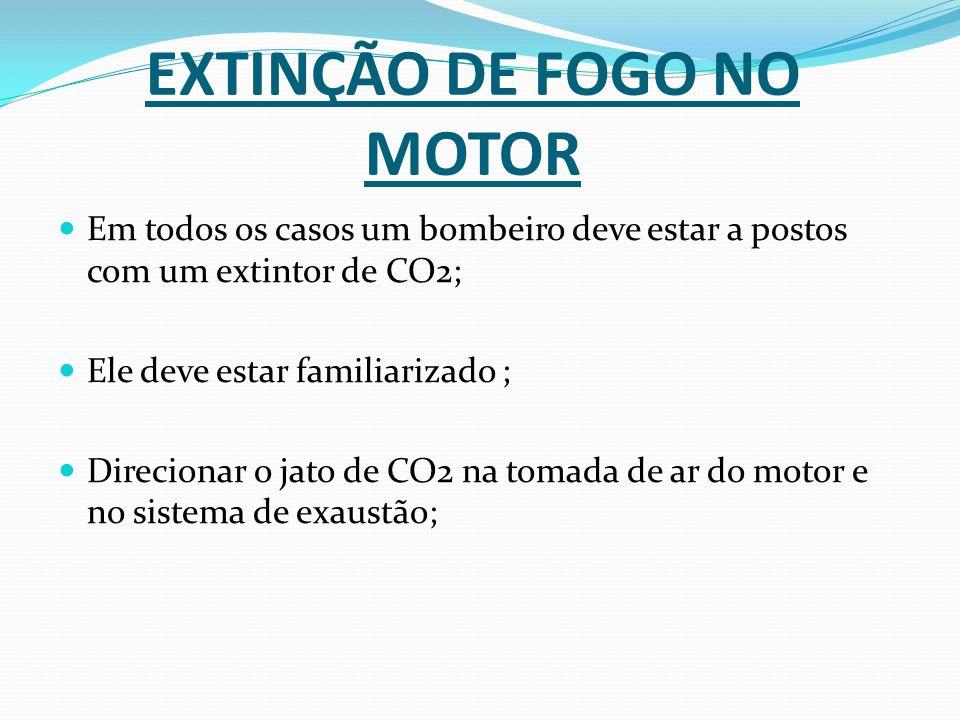 EXTINÇÃO DE FOGO NO MOTOR