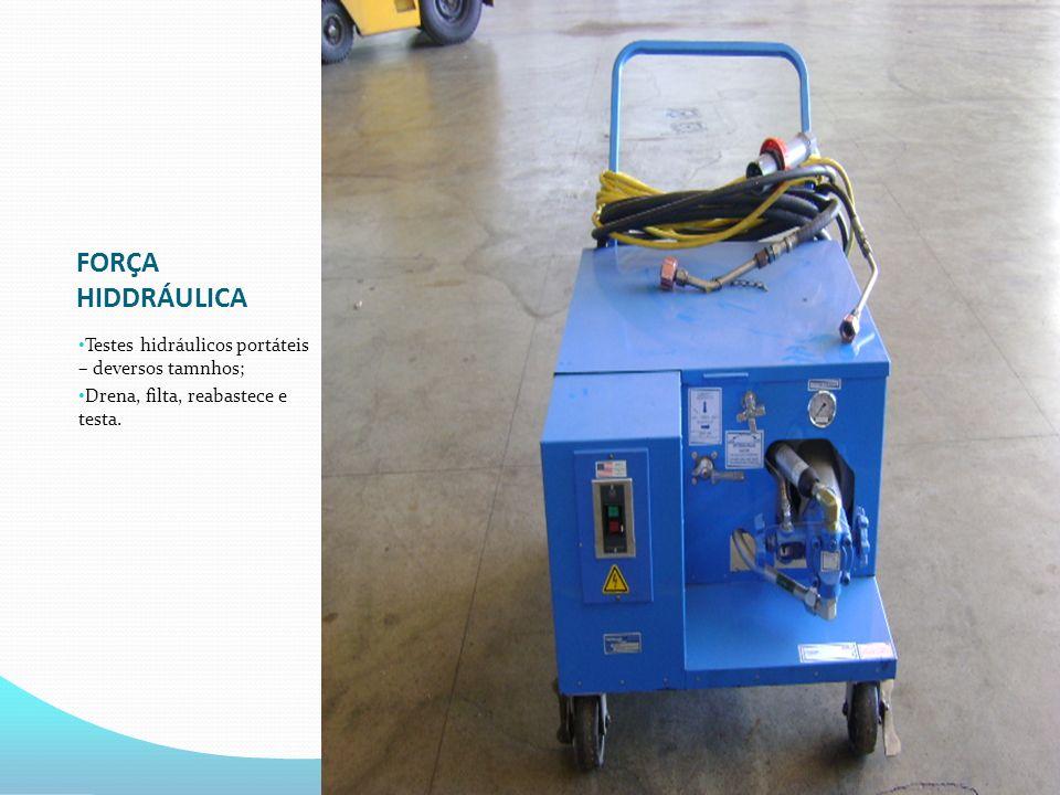 FORÇA HIDDRÁULICA Testes hidráulicos portáteis – deversos tamnhos;