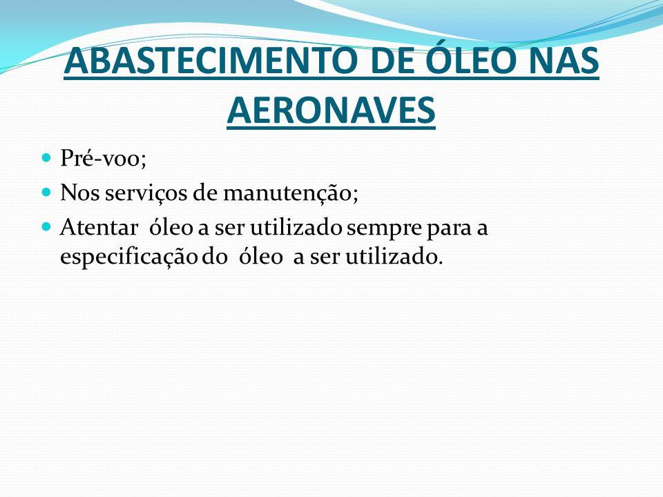 ABASTECIMENTO DE ÓLEO NAS AERONAVES