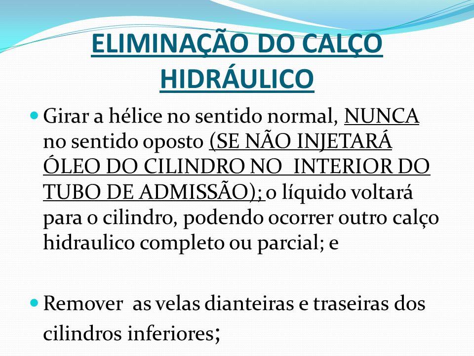 ELIMINAÇÃO DO CALÇO HIDRÁULICO