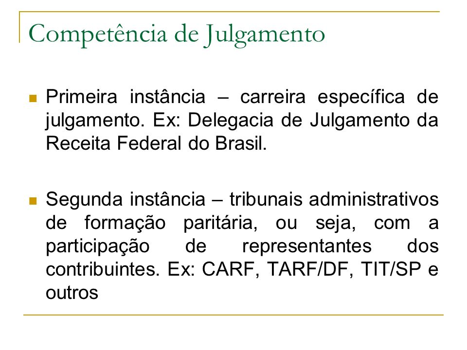 Competência de Julgamento