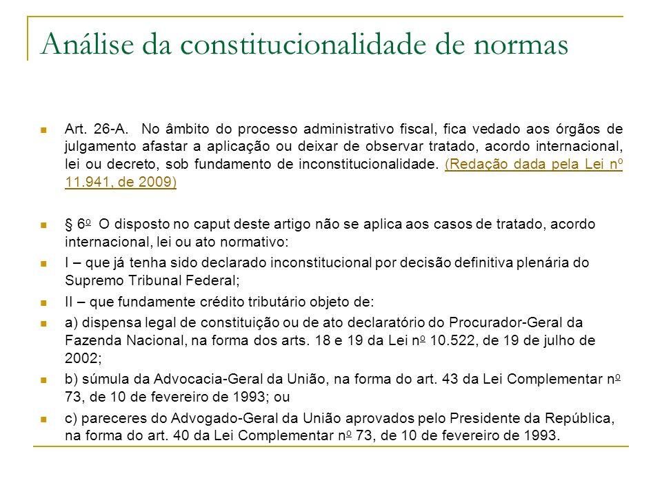 Análise da constitucionalidade de normas