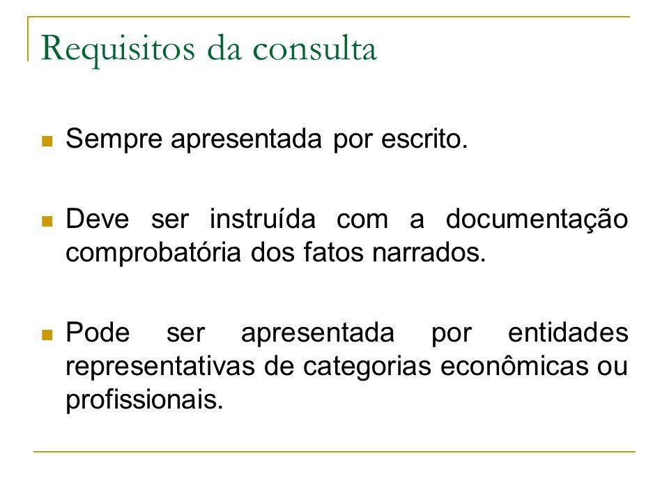 Requisitos da consulta