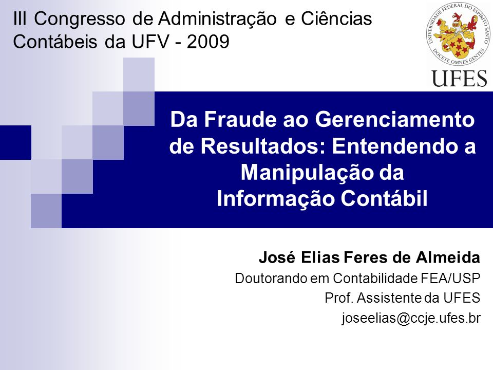 III Congresso de Administração e Ciências Contábeis da UFV - 2009