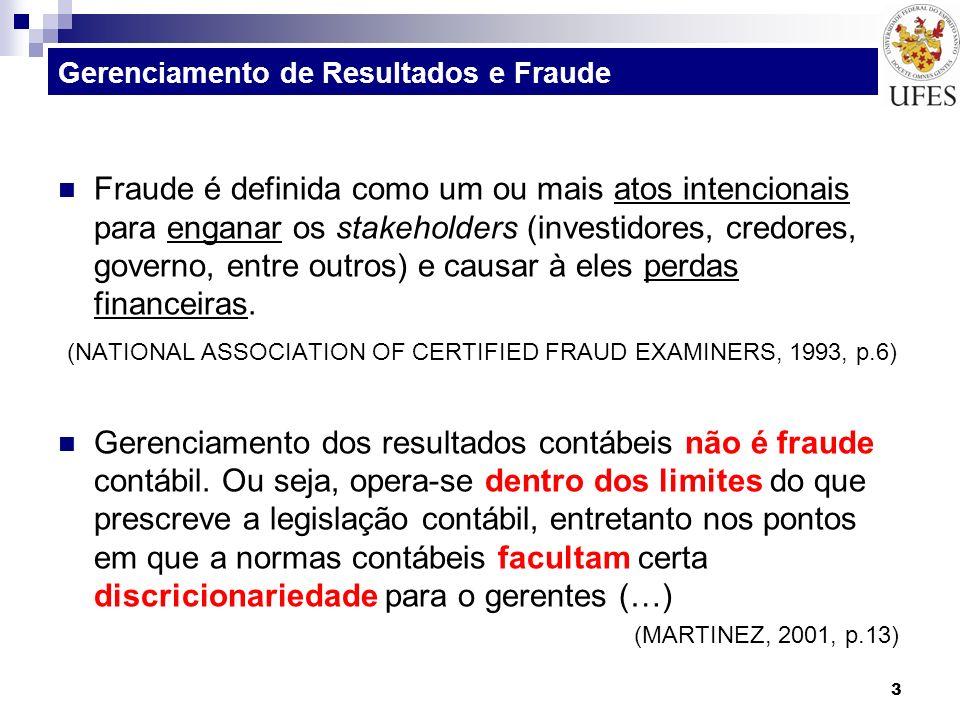 Gerenciamento de Resultados e Fraude