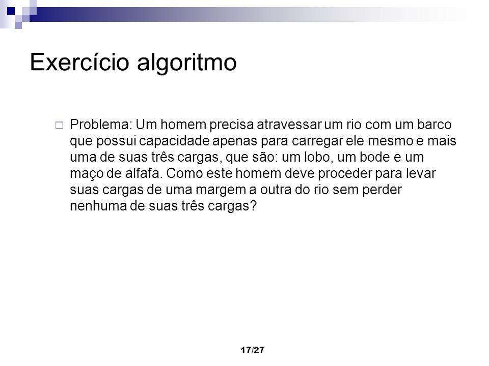 Exercício algoritmo