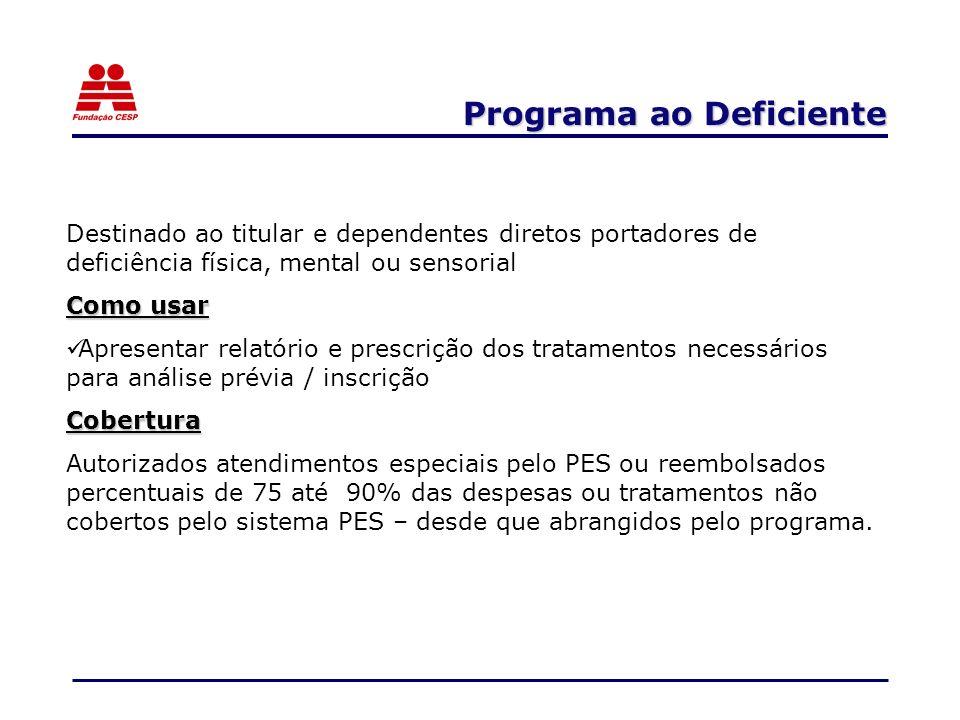 Programa ao Deficiente