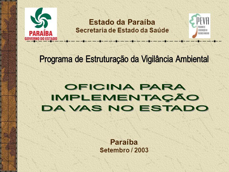 Estado da Paraíba Secretaria de Estado da Saúde