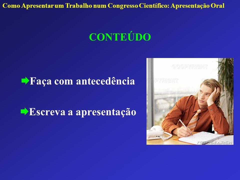 Escreva a apresentação