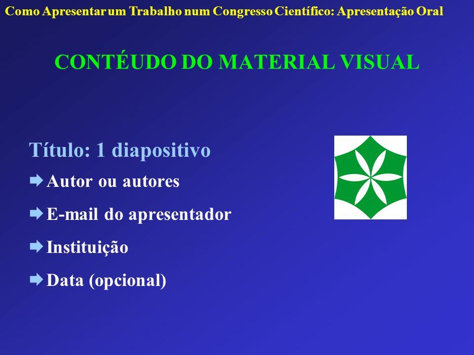 CONTÉUDO DO MATERIAL VISUAL
