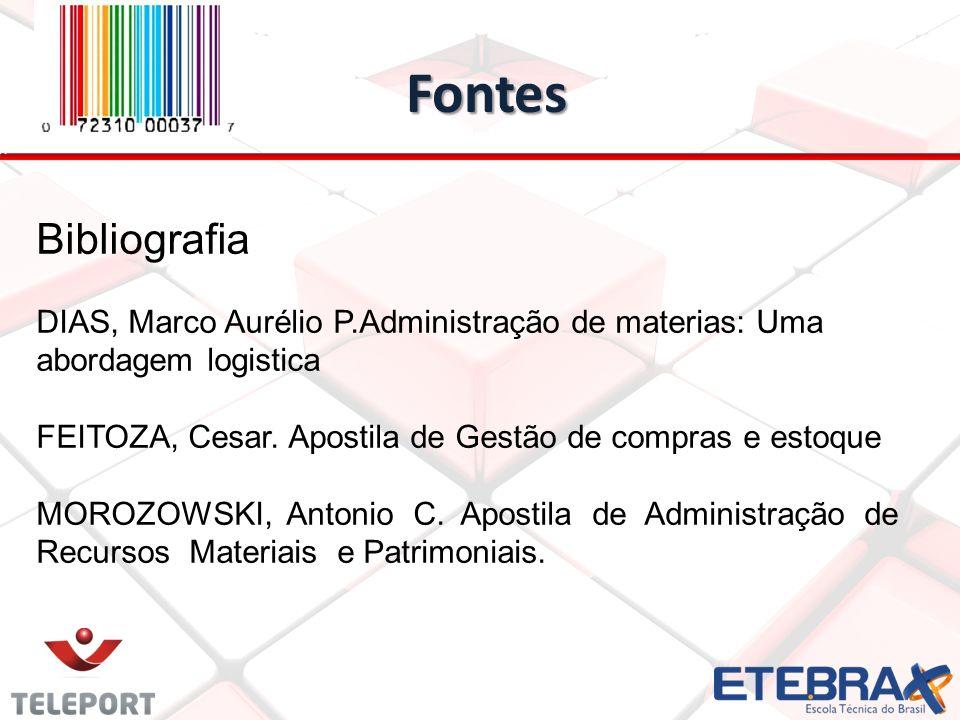 Fontes Bibliografia. DIAS, Marco Aurélio P.Administração de materias: Uma abordagem logistica.