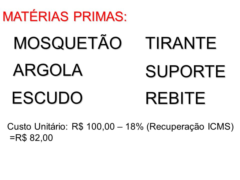 MOSQUETÃO TIRANTE ARGOLA SUPORTE ESCUDO REBITE MATÉRIAS PRIMAS: