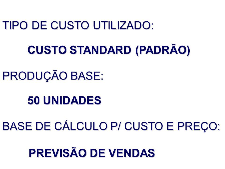 CUSTO STANDARD (PADRÃO)