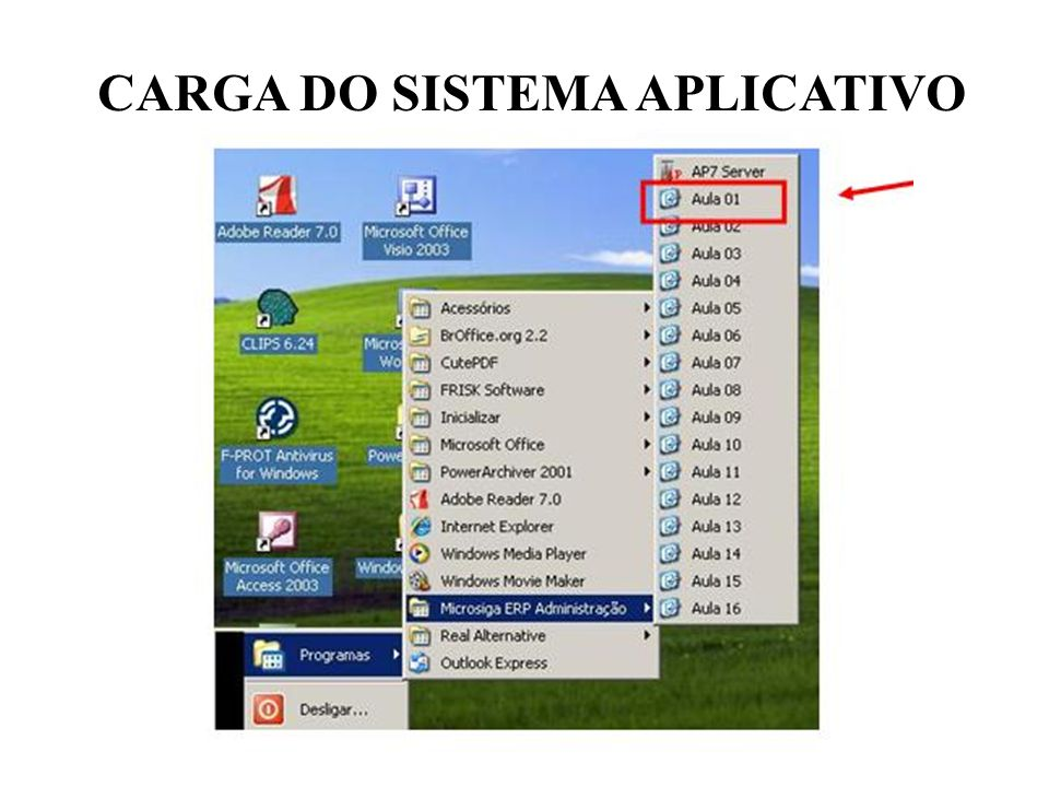 CARGA DO SISTEMA APLICATIVO