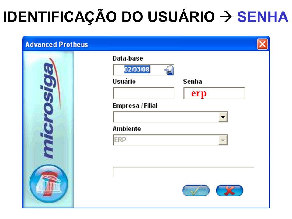 IDENTIFICAÇÃO DO USUÁRIO  SENHA