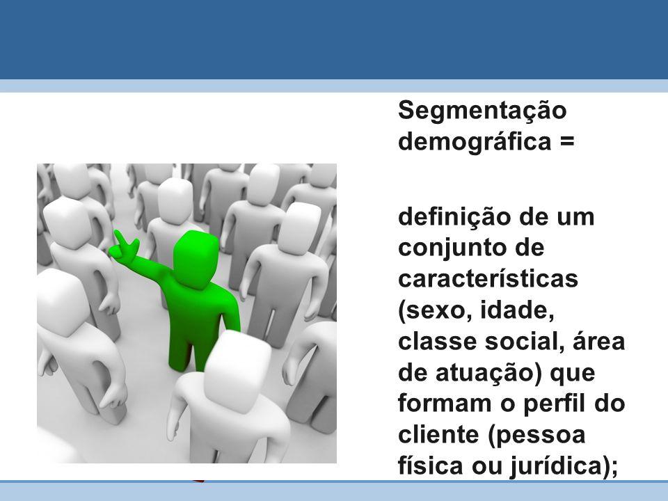 Segmentação demográfica =
