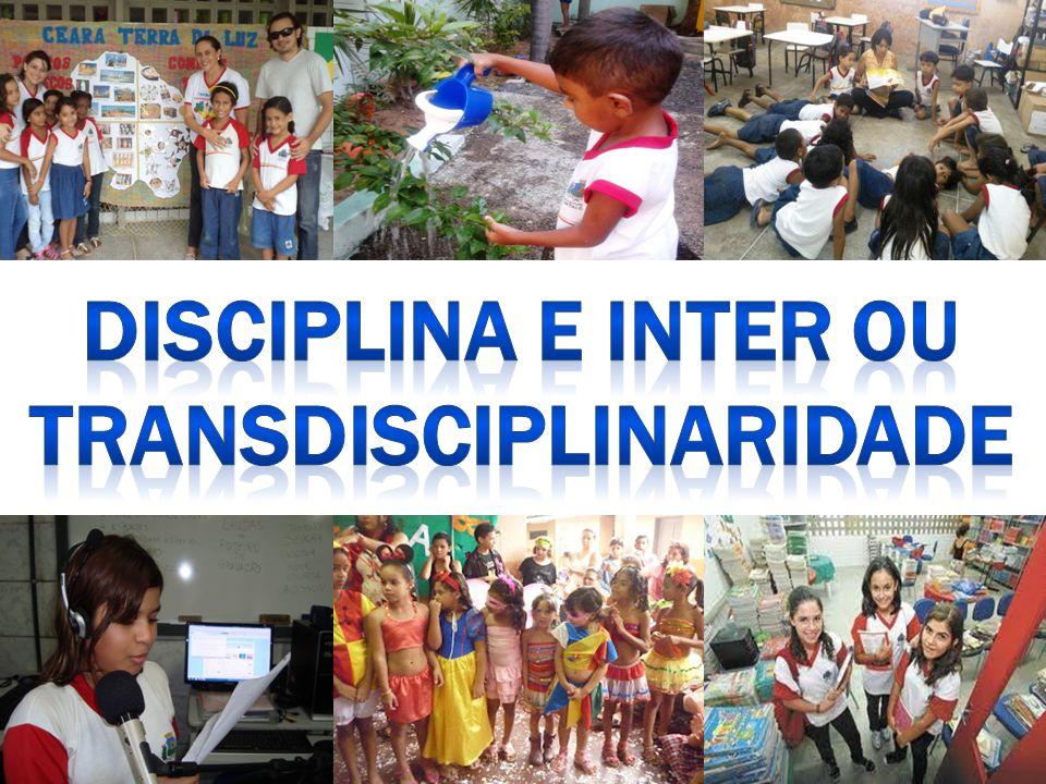DISCIPLINA E INTER OU TRANSDISCIPLINARIDADE