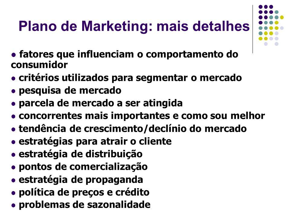 Plano de Marketing: mais detalhes
