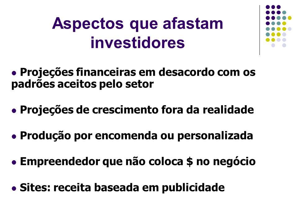 Aspectos que afastam investidores