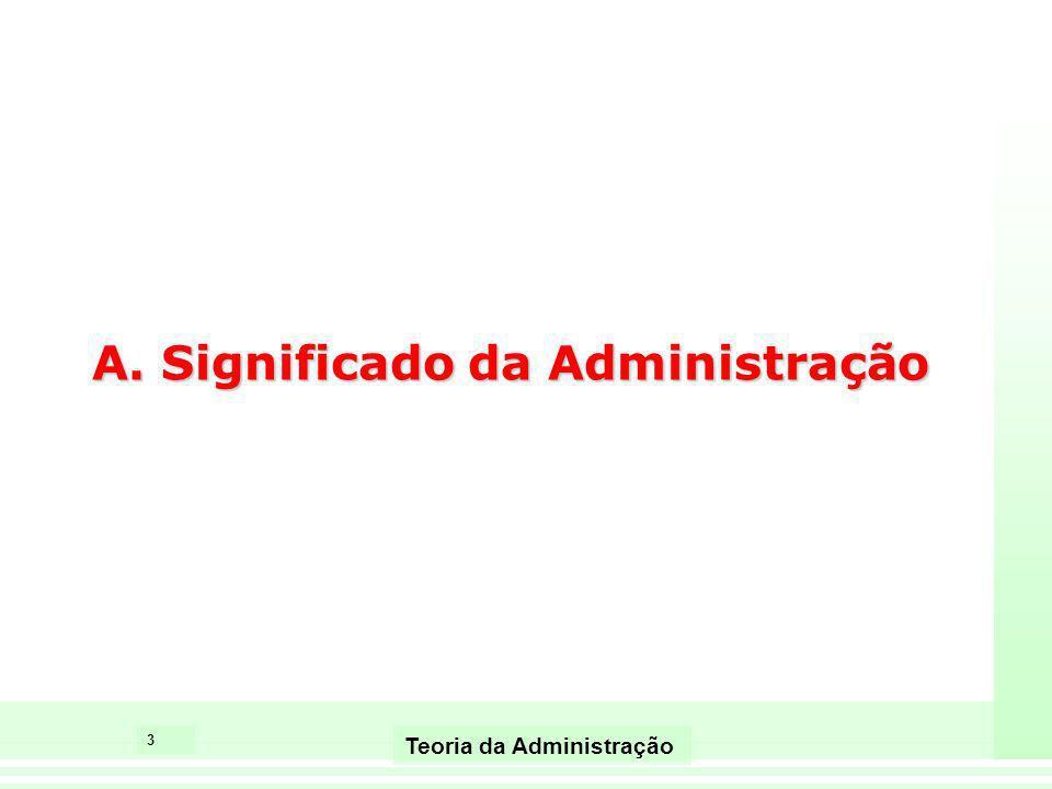 A. Significado da Administração