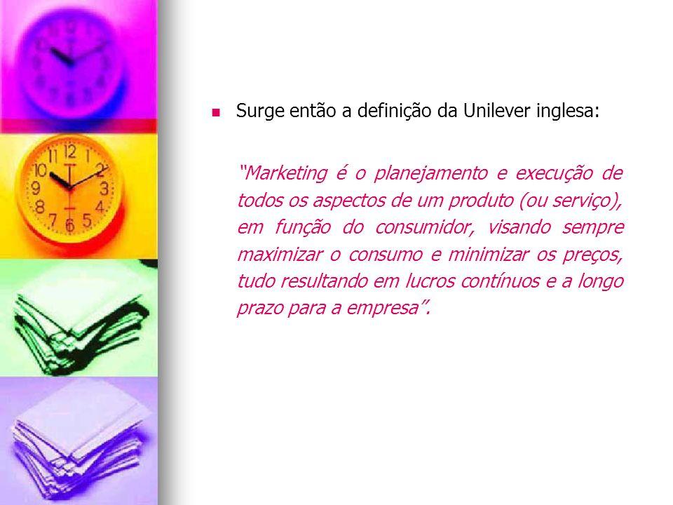 Surge então a definição da Unilever inglesa: