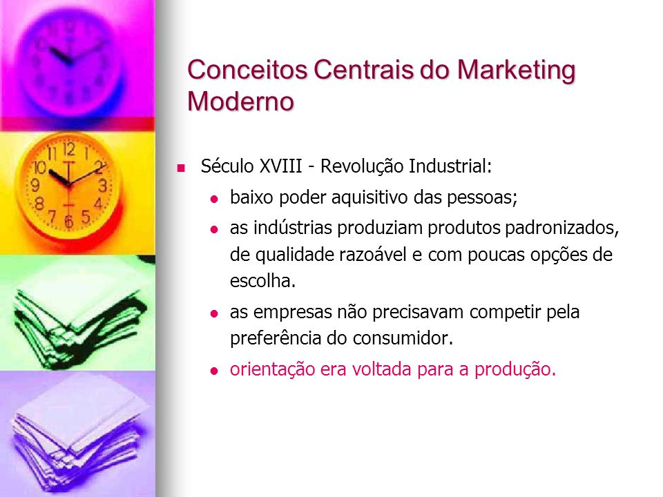 Conceitos Centrais do Marketing Moderno
