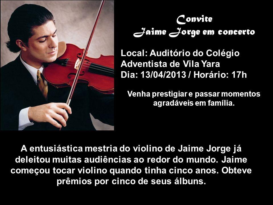 Convite Jaime Jorge em concerto