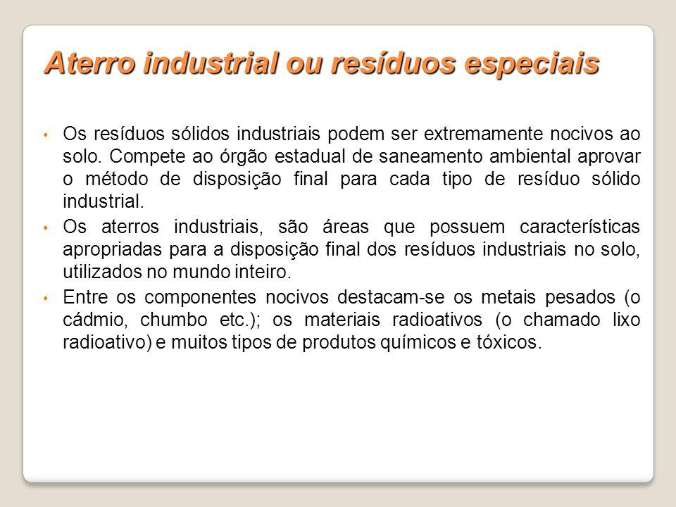 Aterro industrial ou resíduos especiais