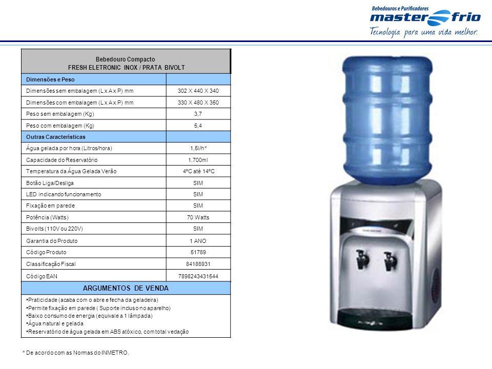 FRESH ELETRONIC INOX / PRATA BIVOLT