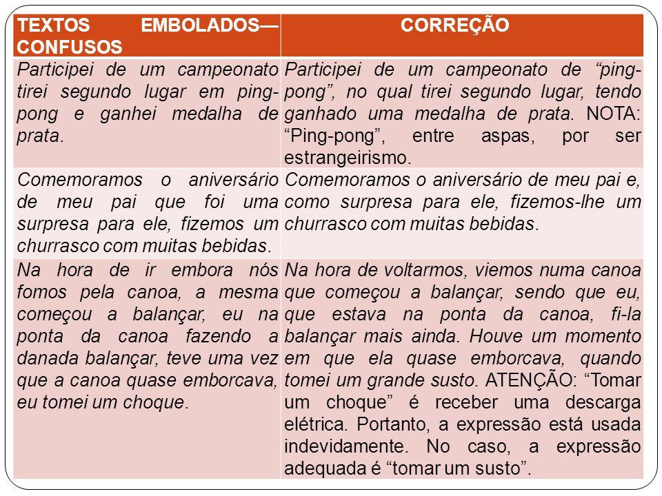 TEXTOS EMBOLADOS— CONFUSOS