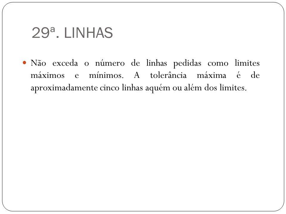 29ª. LINHAS