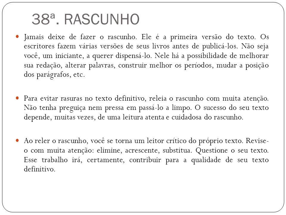 38ª. RASCUNHO