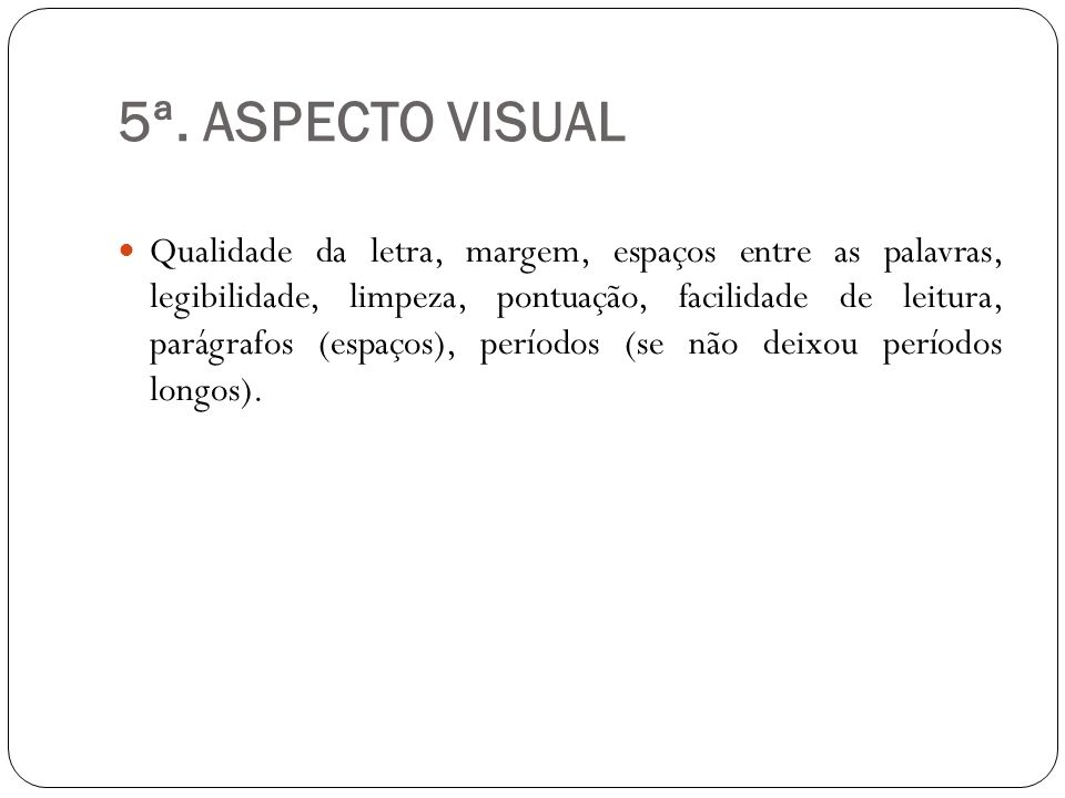 5ª. ASPECTO VISUAL