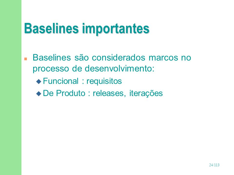 Baselines importantes