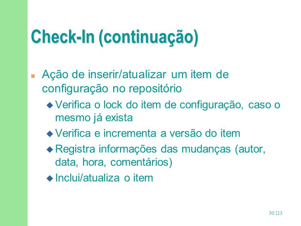 Check-In (continuação)