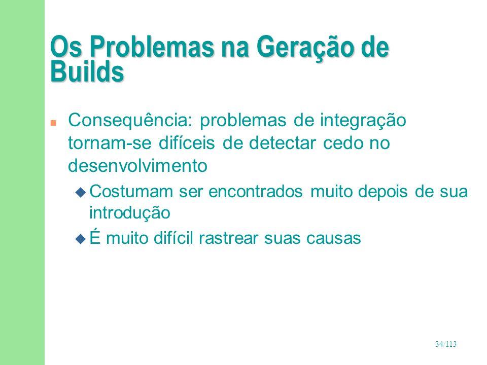 Os Problemas na Geração de Builds