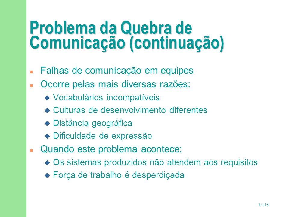 Problema da Quebra de Comunicação (continuação)