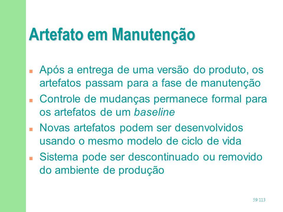Artefato em Manutenção