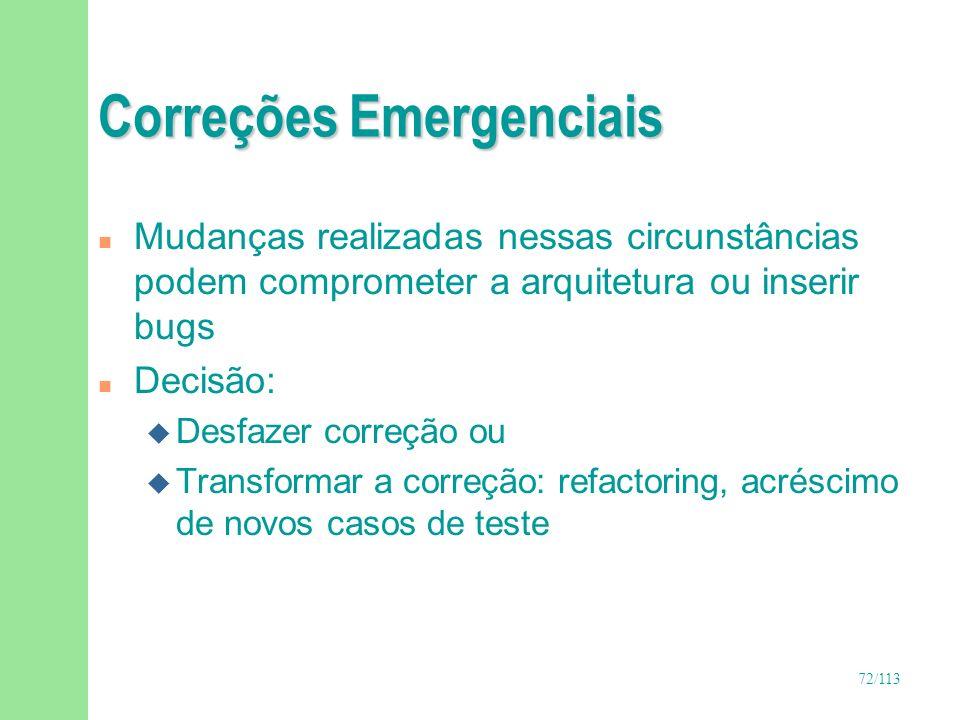 Correções Emergenciais