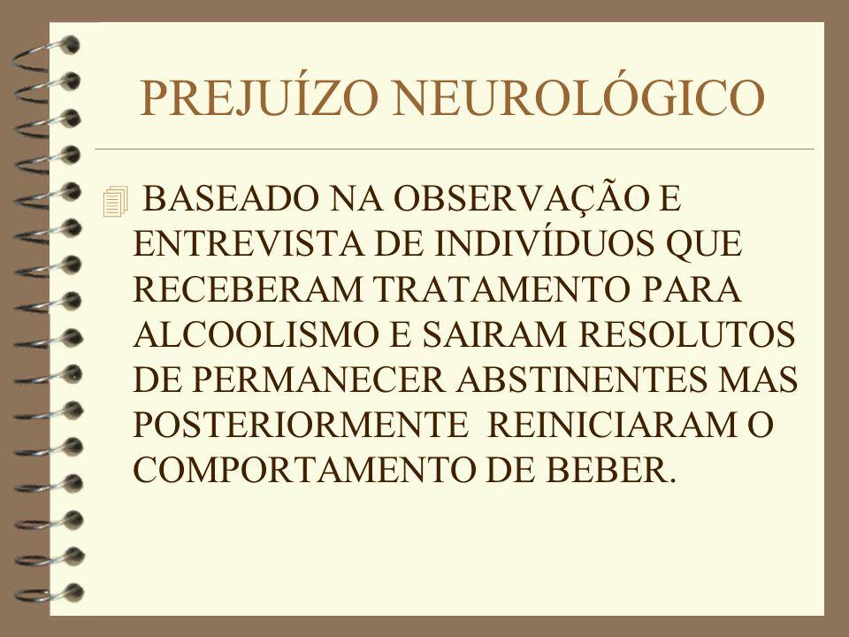 PREJUÍZO NEUROLÓGICO