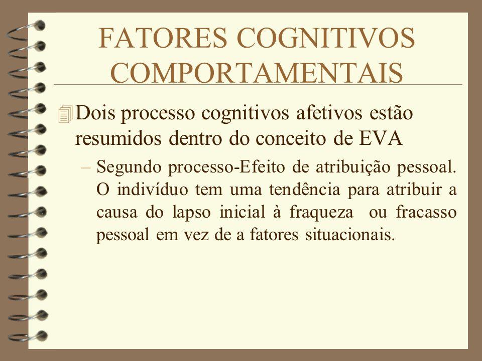 FATORES COGNITIVOS COMPORTAMENTAIS