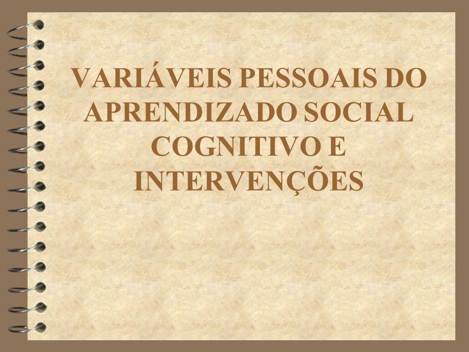 VARIÁVEIS PESSOAIS DO APRENDIZADO SOCIAL COGNITIVO E INTERVENÇÕES